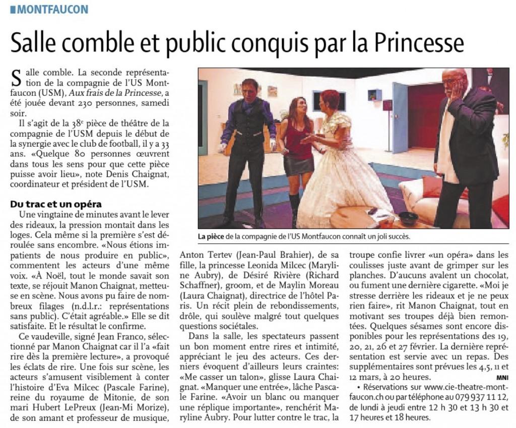 frais de la princesse-presse
